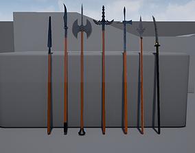 3D asset Polearm collection