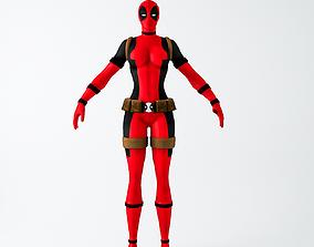3D model Lady Deadpool