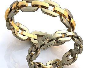 3D print model rings White Gold Rings
