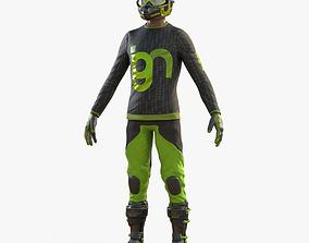 Motocross Biker 3D asset