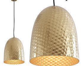 3D asset Dolce Beaten Brass Hanging Lamp