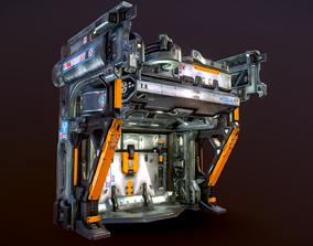 3D asset Heavy Industry Sci-Fi Blast Door