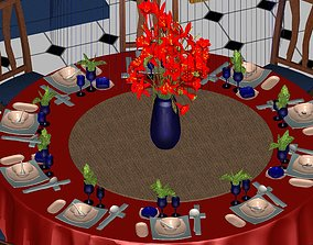 Dining room 3D print model