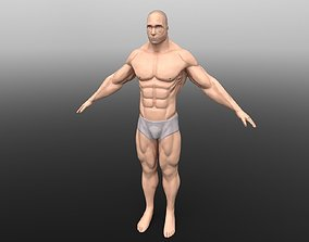 Muscular Man 3D model rigged