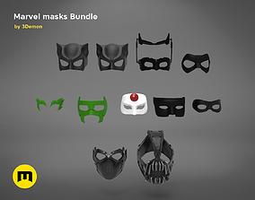 DC and Marvel masks bundle 3D printable model