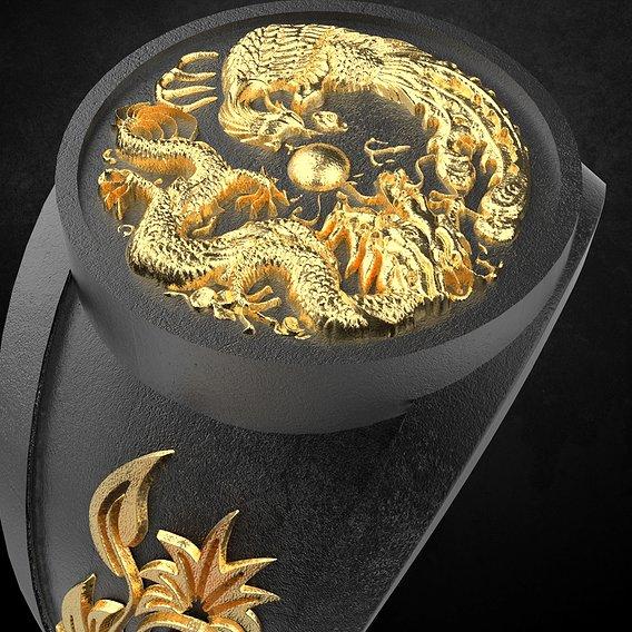 The Dragon Men Ring