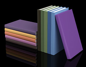 Hardcover Book Collection 3D model
