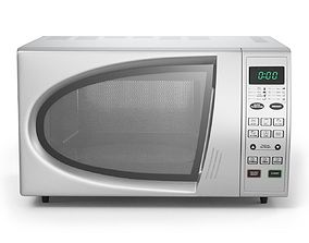 3D rigged Microwave Oven