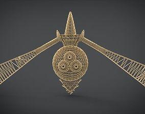 3D printable model Aegislash Wireframe