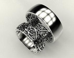 Wedding ring Sakura 2 3D print model