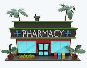 Cartoon Pharmacy 3D asset