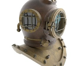 3D model realtime Diver Helmet