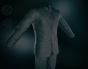 Full Black Suit 3D asset