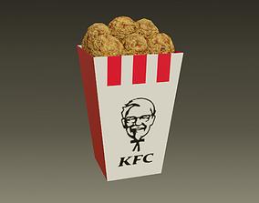 3D model KFC - Kentucky Fried Chicken - medio - 2021 - low