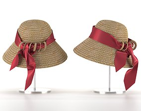 3D model Straw hat accessory