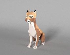 3D model Low Poly Bobcat