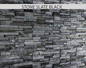 3D model STONE SLATE BLACK 2
