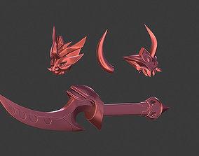 Blood Moon Katarina props LOL league of 3D printable model