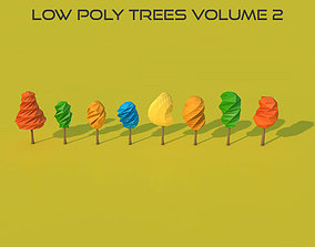 Low Poly Trees Volume 2 3D asset