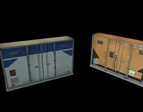 Airport shipping containers 3D model