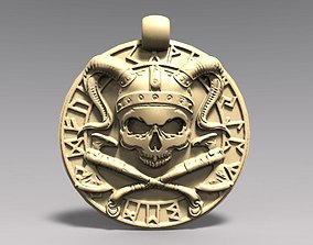 3D print model Viking skull pendant 2