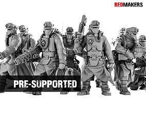 Death Squad Engineers of the Imperial 3D print model