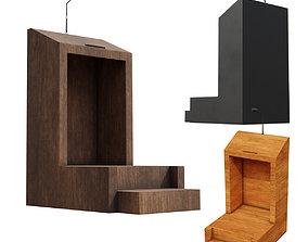Old Pedestal Lectern Podium many PBR Options 3D asset 1
