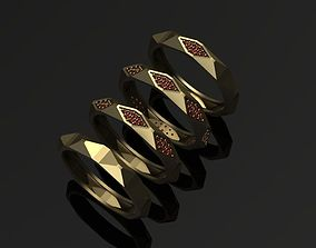 3D print model gem Geometrical Ring