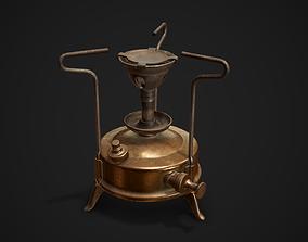 3D asset Vintage kerosene stove