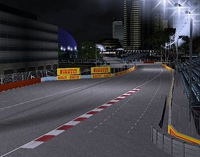 Singapore Marina Bay F1 Track 3D asset low-poly