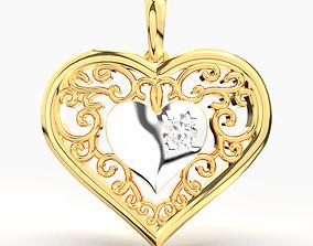 QUEEN HEART DIAMOND PENDANT 3D printable model
