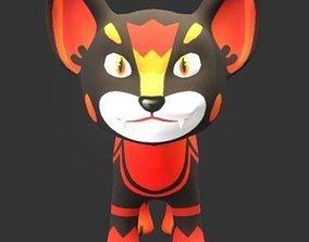 Lion Cub 3D asset