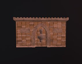 Monument water stream with Lions and bull 3D asset