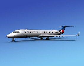 Bombardier CRJ700 SAS 3D model