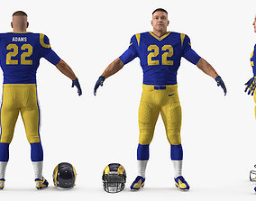 American Football Player Los Angeles Rams Fur 3D model