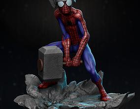 3D printable model Spider Thor statue
