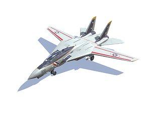 3D model F-14 Tomcat Jet Fighter Aircraft