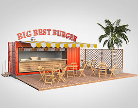 3D Shipping container food stand