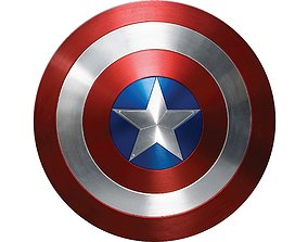 3D model game-ready Captain America Shield