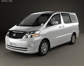3D model Toyota Alphard 2002