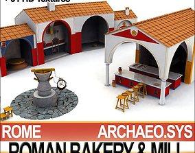 3D model Roman Town Bakery Mill 3 1