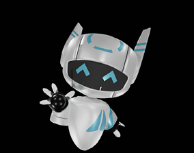 animated VR / AR ready Robot-child lowpoly 3D model