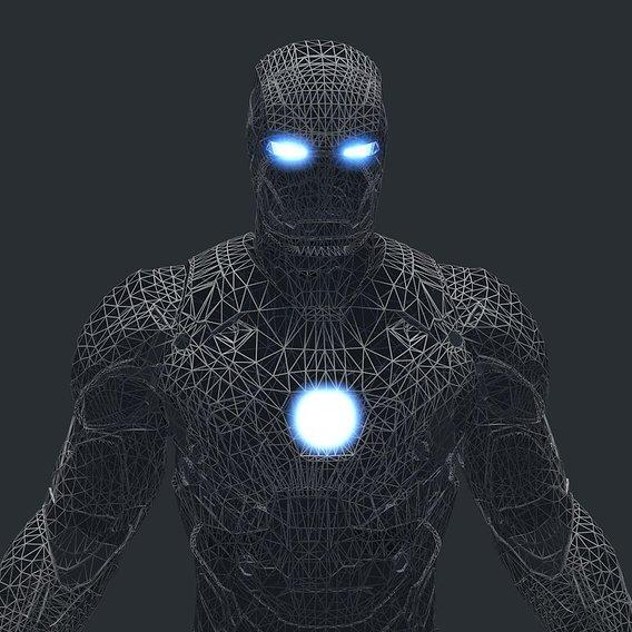 Iron Man Wireframe