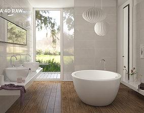 3D model Highly detailed scene of Modern Bathroom