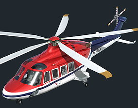 AW139 Helicopter 3D