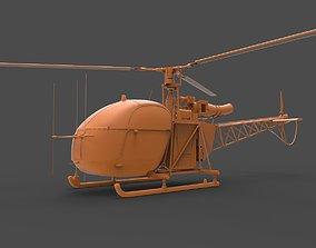 Alouette II 3D printable model