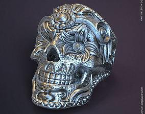 3D printable model Ornamental skull vol1 ring
