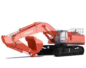 3D model Hitachi Zaxis 800