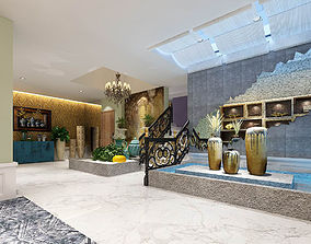 Office meeting room reception hall 10 3D model