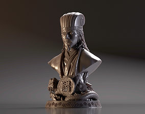 3D print model Bust of Zhuge Liang - Romance of the Three